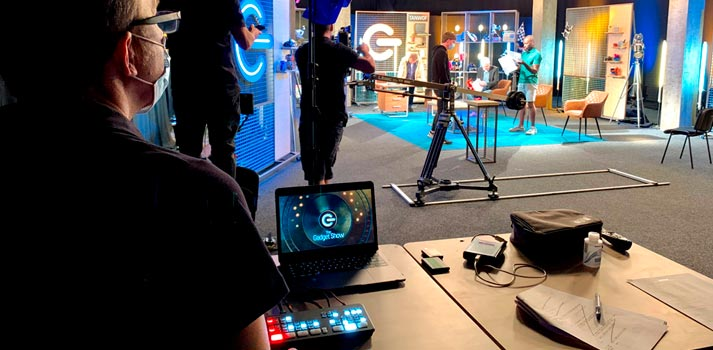 Atem Mini Pro (Blackmagic Design) deployed in the studio production of Channel 5's The Gadget Show