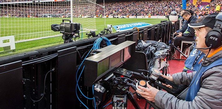 Travelling cam at a Mediapro's soccer production