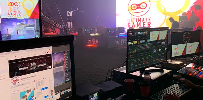 Production area at Ultimate Gamer eSports event