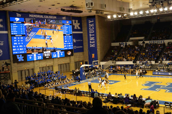 New Led Screen of Formetco Sports used in the University of Kentucky