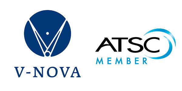 Logo of V-Nova with the ATSC Member ensign