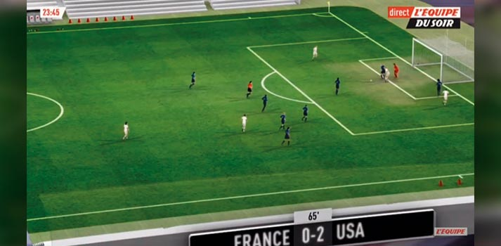 AR Graphics on a TV Show on Women's World Cup 2019 - Match