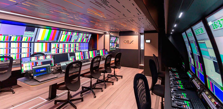 Videe OBX OB Truck equiped with Riedel solutions