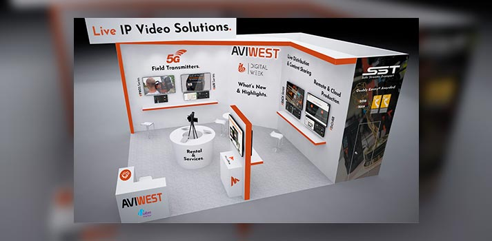 Aviwest's virtual booth for IBC Showcase 2020