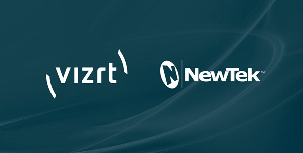 Logos of Vizrt and NewTek