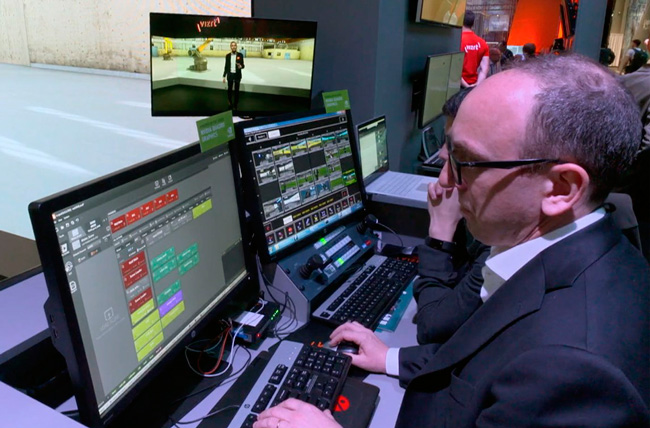 Vizrt production system managed by an operator