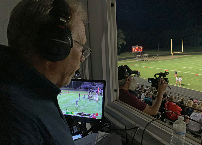 WGTD FM coverage of a high school game with JVC camcordes and a Pro HD Studio 4000s