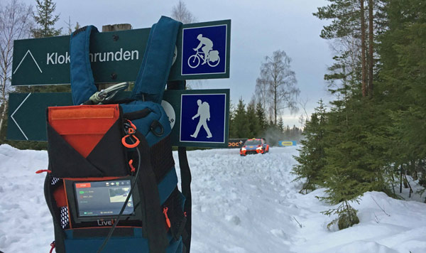 LiveU's technology was used in the WRC Rally of Sweden