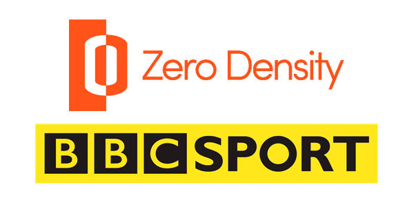Zero Density and BBC Sport logos