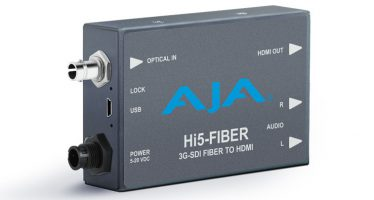 AJA Updated Hi5-Fiber Mini-Converter with 3G-SDI support