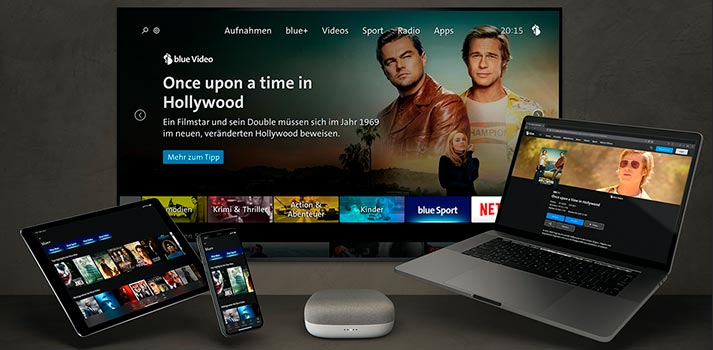 blue TV UI across platforms