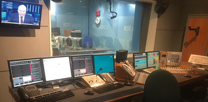 radio control room at RTE Radio1