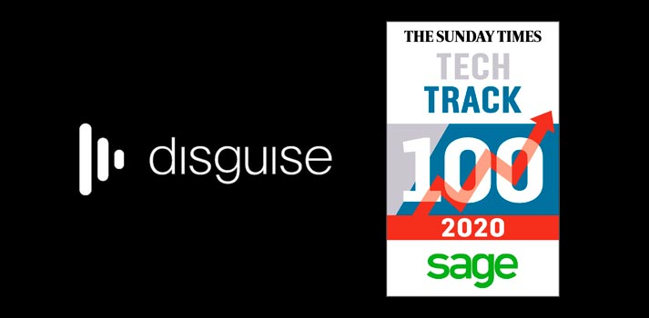 Logo of disguise and The Sunday Times tech track 100