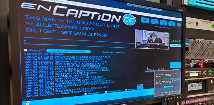 User interface of ENCO enCaption 4
