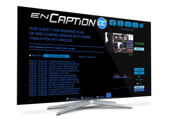 Display showing enCaption 4 for Radio