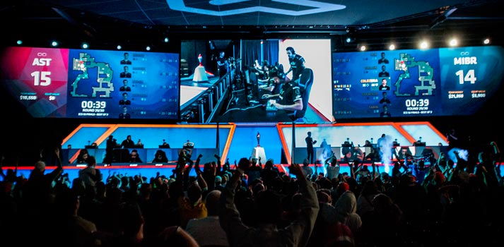 Arlington eSports stadium with live audience