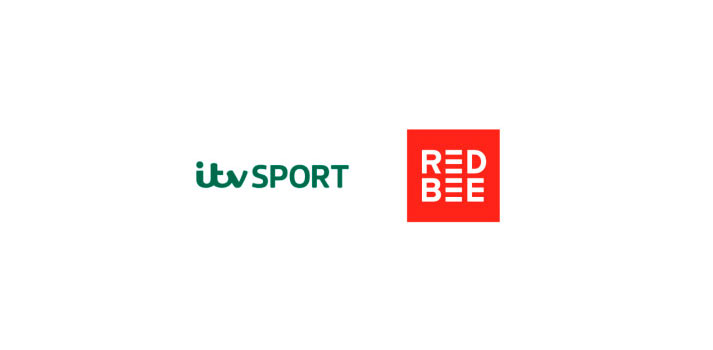 Logos of Red Bee Media and ITV Sport