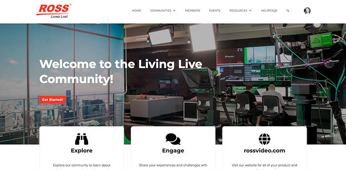 "Ross presents ""Living Live"", its community platform for live production"