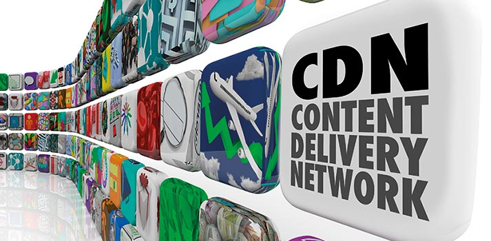 Content Delivery Network (CDN) - Stock Image