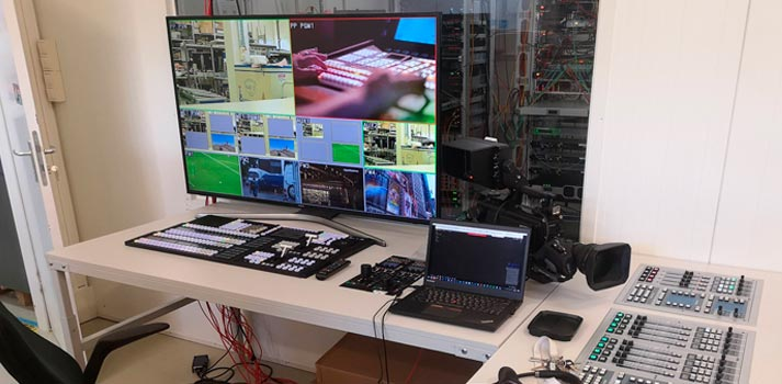 Control room at IP-powered studio of 5G VIRTUOSA project