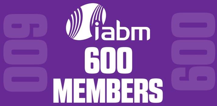 Conmemorative image of the IABM milestone - 600 members