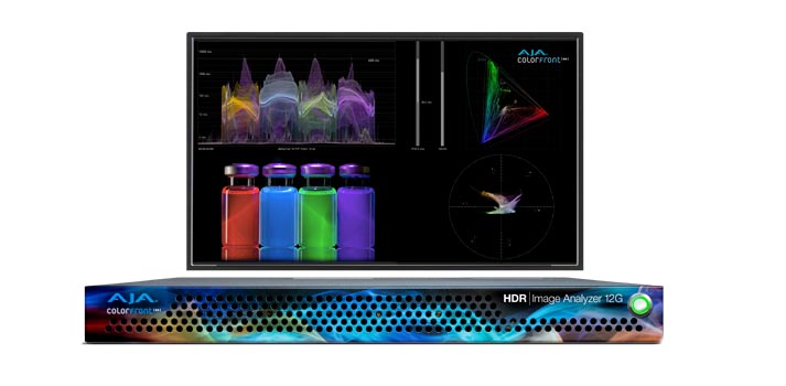 HDR Image Analyzer 12G developed by AJA and Colorfront