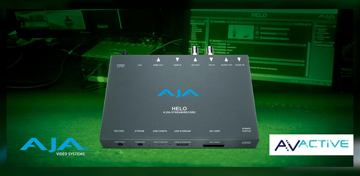 AJA Helo solution deployed by AVActive