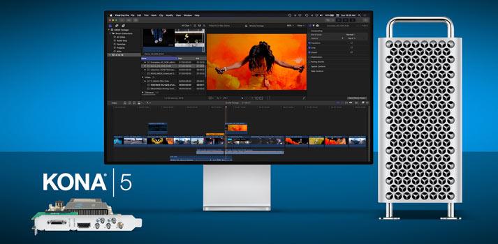 AJA technology (KONA 5) running in a Mac Pro