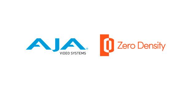Logos de AJA y Zero Density