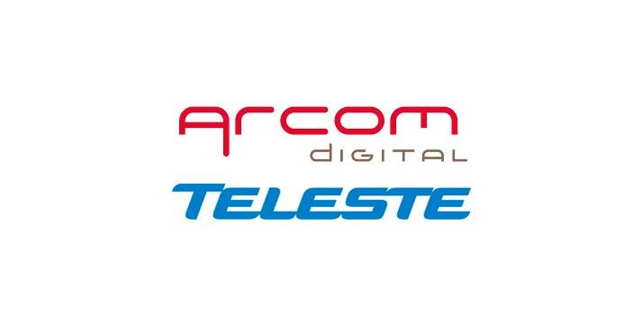 Logos of Arcom Digital and Teleste