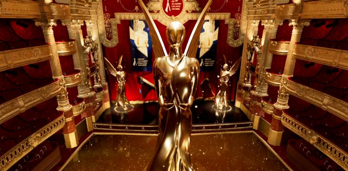 Virtual stage of Asian Academy Creative Awards powered by Ross Video