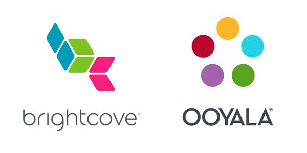 Brightcove and Ooyala logo 2019