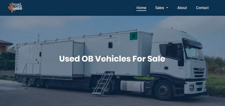 Used OB Vehicles new website of Broadcast Solutions