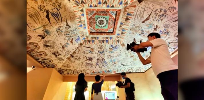 CCTV coverage of Mogao Caves with team deploying Clear-Com solutions