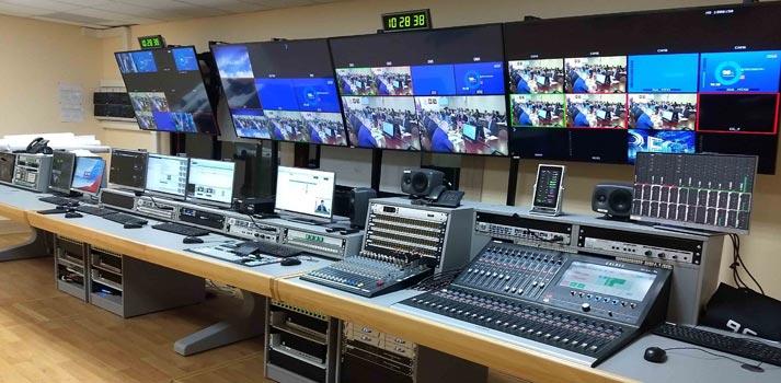 Control room at a VGTRK's regional centre