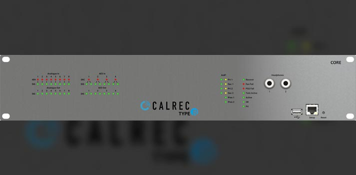 Rack unit of Calrec Type R for TV