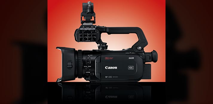 Side view of the Canon XA55