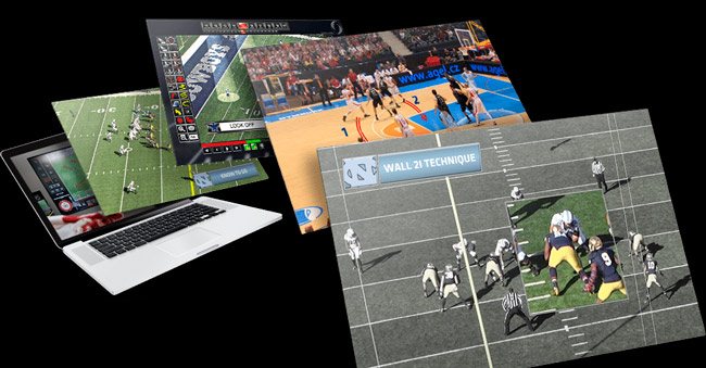 User Interface of ChyronHego Coach Paint