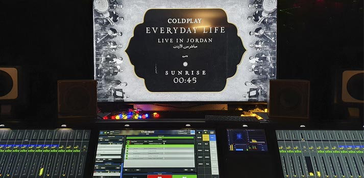 Coldplay 2019 live performance powered by a Lawo console