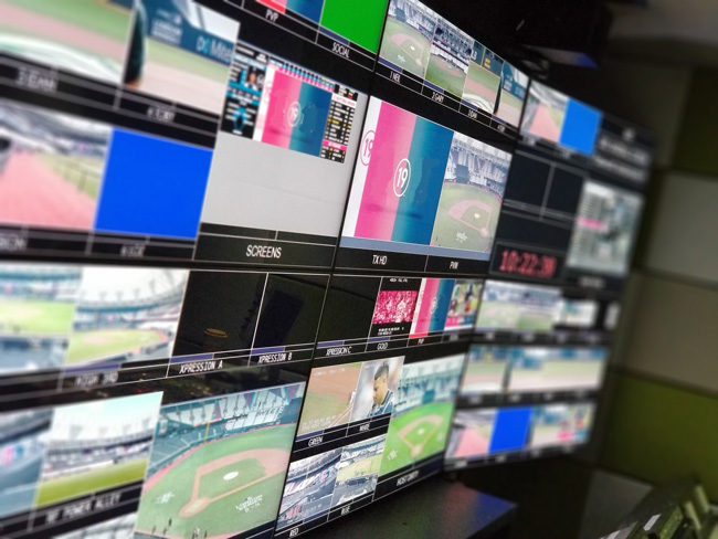 Control room with some of the Ross Video's technology implemented