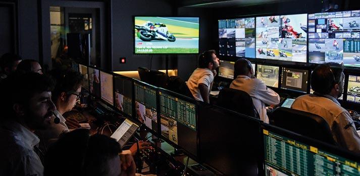 OB Truck producting a MotoGP race