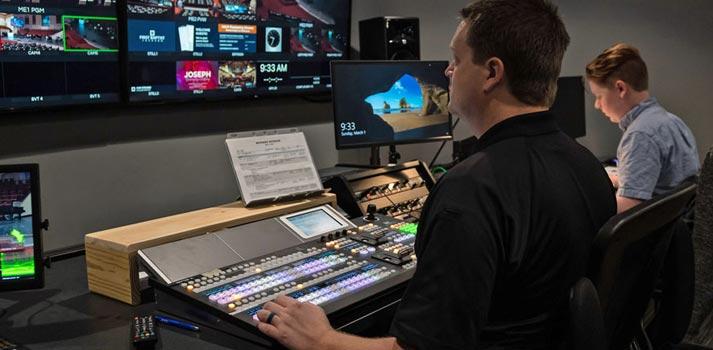 Live production solution by FOR-A integrated at First Baptist Jackson's Control Room
