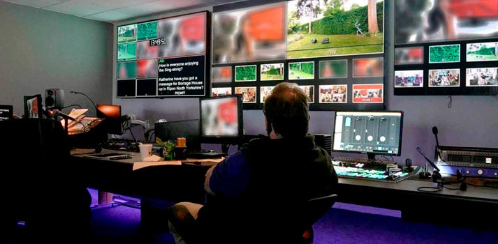 Control room of Creative Technology production