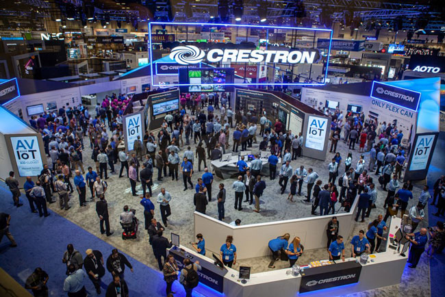 Crestron booth at InfoComm 2019