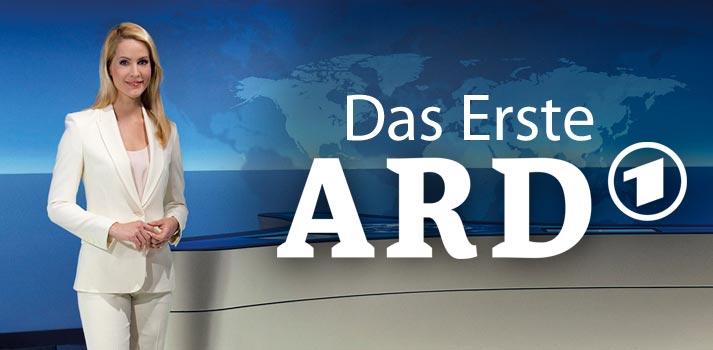 Das Erste logo with TV host