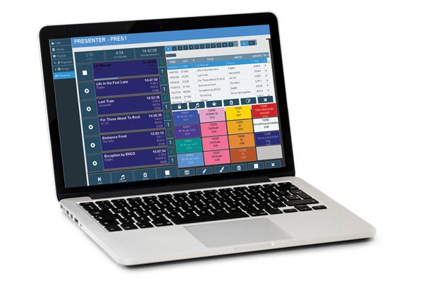 ENCO WEBLAB HTML5 platform displayed in a Laptop