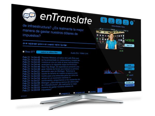 Screenshot of the ENCO's enTranslate solution