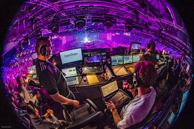 Control room with Riedel equipment at Eurovision Song Contest 2019