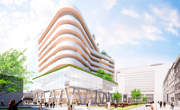 New Medialaan headquarters in Antwerp (Belgium) - a render