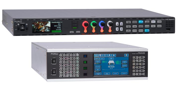 FRC 9100 and FA 9600 signal processors by FOR-A that will be showcased at NAB Show 2020